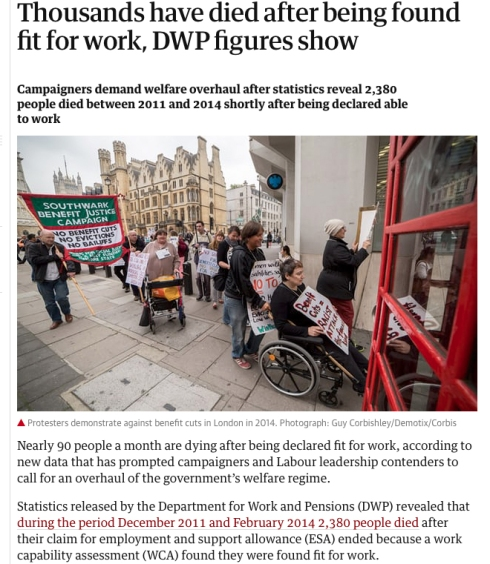Disabled people found fit to work